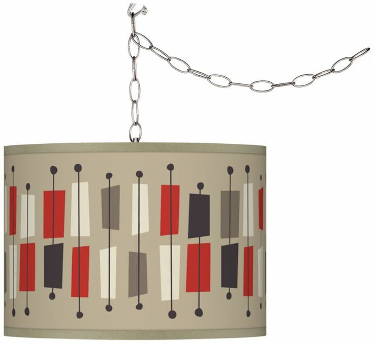 Contemporary Ragnar Bounce Art Shade Swag Plug-In Chandelier - #EUF9542-Y3538 - Euro Style Lighting