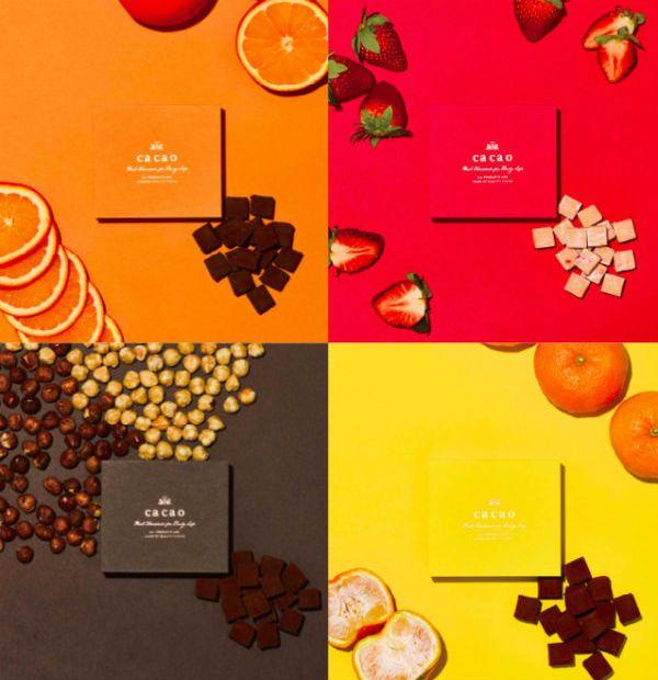 """「ca ca o」のある鎌倉小町通りの名前にちなんだプレミアムなアロマ生チョコレート。""""Color Mariage""""シリーズは様々な食材をチョコレートと掛け合わせ、味と色のマリアージュをお楽しみ頂けます。 小町通りの石畳 ヘーゼルナッツ : 「小町通りの石畳 アロマミルク」をベースに、ジャンドゥーヤ(ヘーゼルナッツをペースト状にして練り込んだチョコレート)を、バランスが崩れない限界まで練り込んだ、贅沢なアロマ生チョコです。 小町通りの石畳 いちご :「小町通りの石畳 アロマホワイト」をベースに、苺のピューレを加え、さらに苺のフリーズドライをミックスしました。甘酸っぱい苺の風味がホワイトチョコレートとベストマッチです。 小町通りの石畳 オレンジ : 「小町通りの石畳 アロマビター」をベースに、フレッシュなオレンジピールを練り込みました。オレンジの香りが華やかに広がる、大人のアロマ生チョコです。 小町通りの石畳 抹茶 : 「小町通りの石畳 アロマホワイト」をベースに、京都宇治の丸久小山園の香り高い抹茶を練り込みました。コロンビアと日本の食文化の出会いと融合ともい..."""
