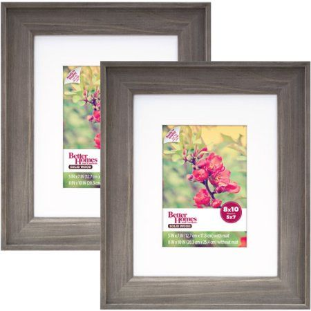 $20 for 2pack 8x10  Better Homes and Gardens 8x10/5x7 Rustic Wood Picture Frame, 2pk