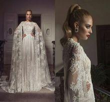 Oriente médio Renda Vestidos de Casamento Com o Envoltório Sheer Applique Beads A Linha de Vestidos de Noiva Dubai Árabe Vestido de festa RG549(China (Mainland))