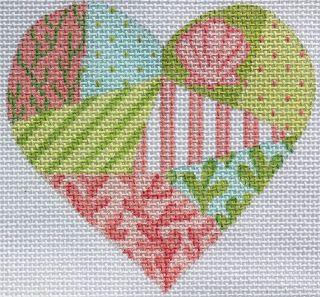 Mini Heart - Seaside Patchwork