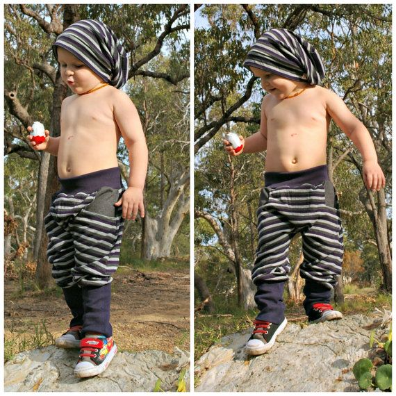 NINJA Boy Girl Sarouel patron Pdf de couture, tricot Jersey molleton, pantalon à taille manchette, enfant en bas âge pour enfant 3 4 5 6 7 8 9 10 ans Instant Download
