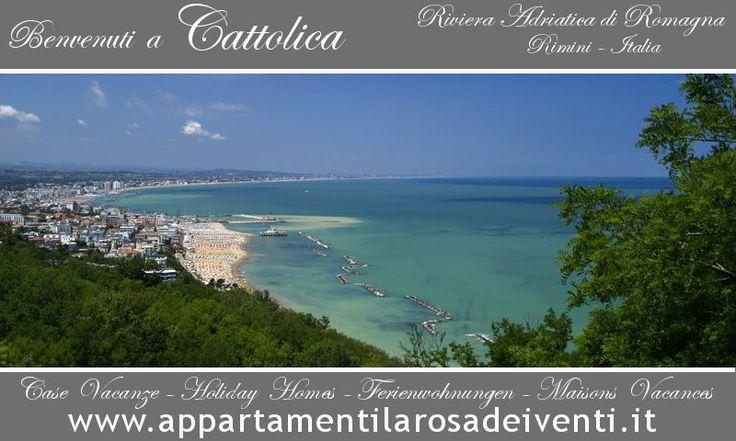 Panorama Mozzafiato, sulla Bellissima Spiaggia di Cattolica.  Sole, Mare e tanto Amore, per un' incantevole Città  della Riviera Romagnola