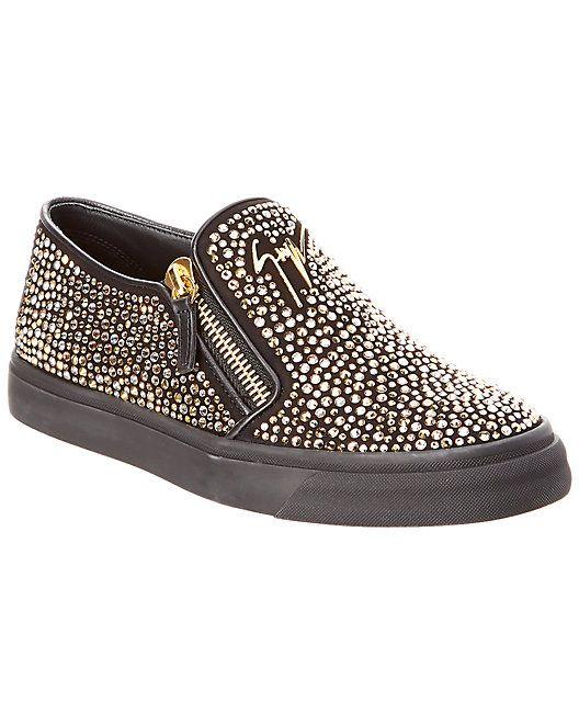 Embellished On Giuseppe Sneakerembellished Zanotti Slip Leather rCWBdoex