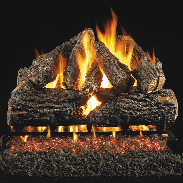 Peterson Real Fyre 24inch Charred Oak Log Set With Vented