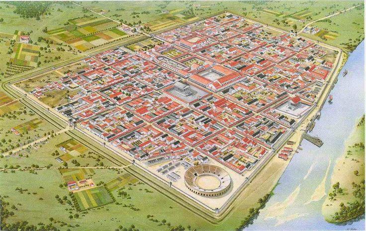 The Roman colony of Ulpia Traiana in Xanten, Netherlands