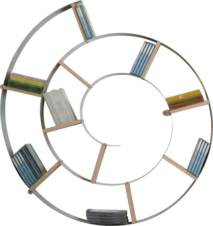 KARE Design Wandregal Snail Silber CD Regal Rund NEU