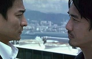 Infernal Affairs trilogy (2002-2003). Andy Lau and Tony Leung facing off. One awesome ride. Best Trilogy.