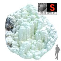 3d model icefall phenomenon nature