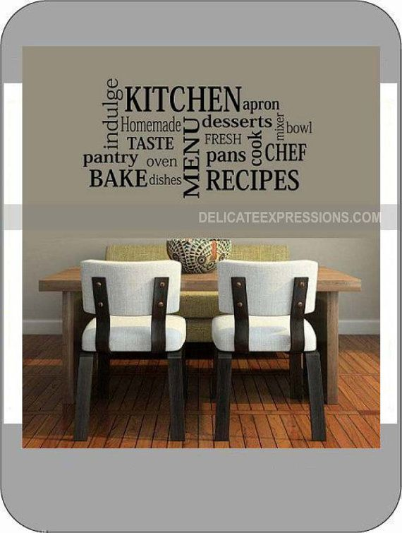 Kitchen Subway Art - Vinyl Wall Art Lettering, Quotes, Decals by Delicate Expressions on Etsy, $15.00