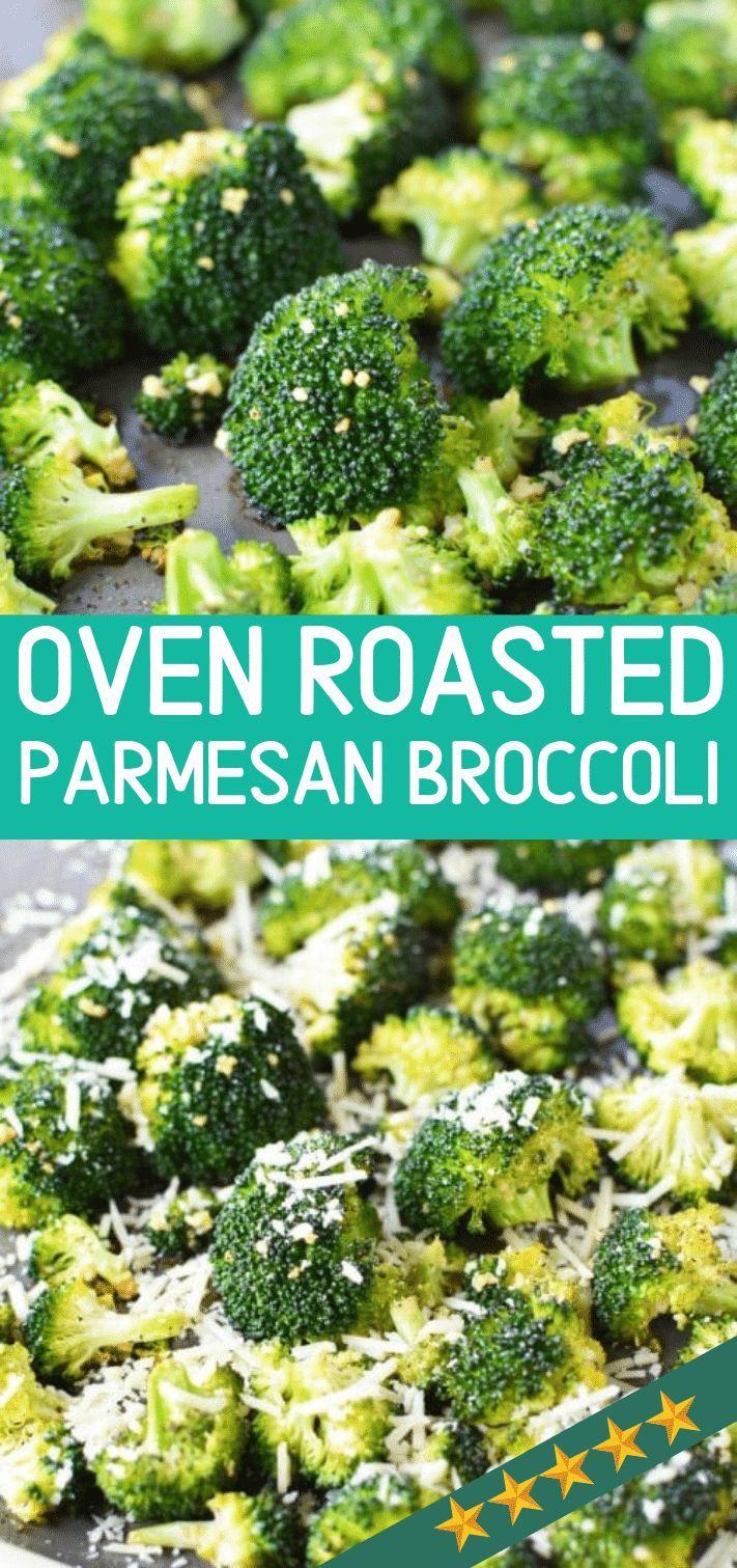 Ofen Gebratener Brokkoli Mit Knoblauch Und Parmesankase Baked Broccoli Recipe Roasted Broccoli Recipe Broccoli Recipes Side Dish
