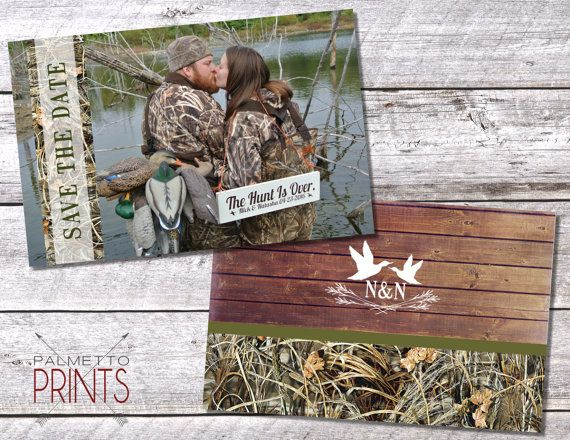 Camo Duck Hunting Wedding Save the Date Hunting by PalmettoPrints
