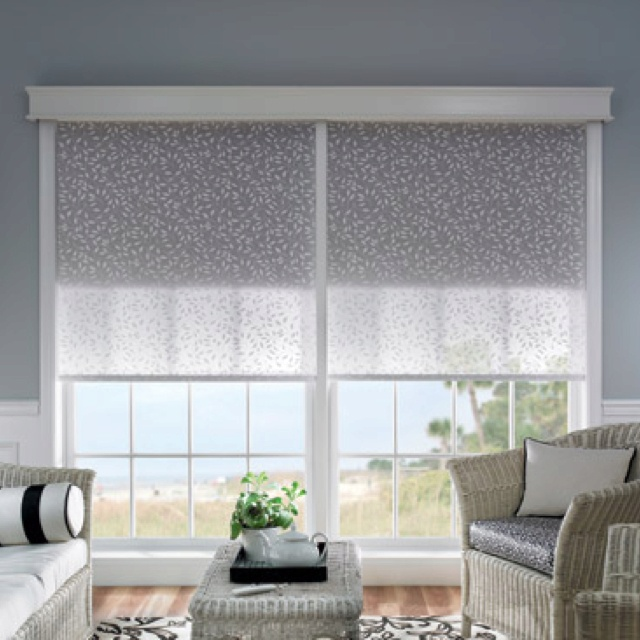 Dual Roller Shades System : Bali dual roller shades black out shade sun screen