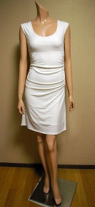 VICTORIA'S SECRET NEW JERSEY SCOOPNECK WHITE DRESS HOT SEXY BEACH SUNDRESS -S,L---------Now on Sale for US$24.99!! ----------Please Click The Photo to see details!!