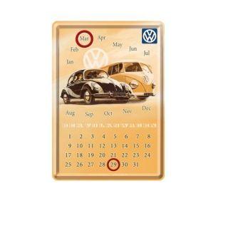 Nostalgic Μεταλλική Κάρτα-Ημερολόγιο 10x14εκ. 'VW Beetle and Bulli'
