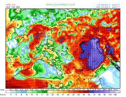 Varování pro turisty na Jadranu: vichřice udeří rychlostí až 150 km/h!
