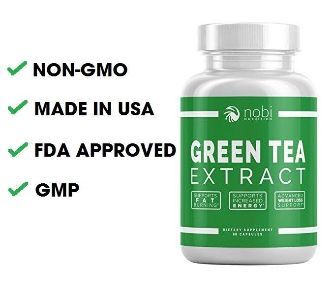 ECGC Green Tea Extract Supplement 500 mg 60 Capsules Fat Burner Metabolism Boost #NobiNutrition #gmo+free #weightloss #tea+supplement #green+tea #metabolism #energy+boost #fda+approved #made+in+usa #green+tea+extract