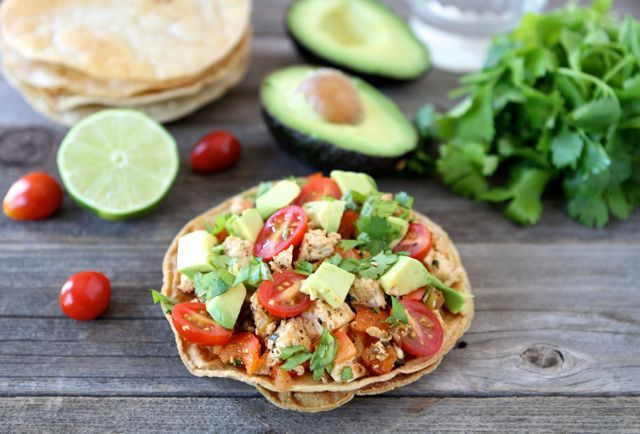 Tofu Tostadas-an easy and healthy meal! Recipe from www.twopeasandtheirpod.com