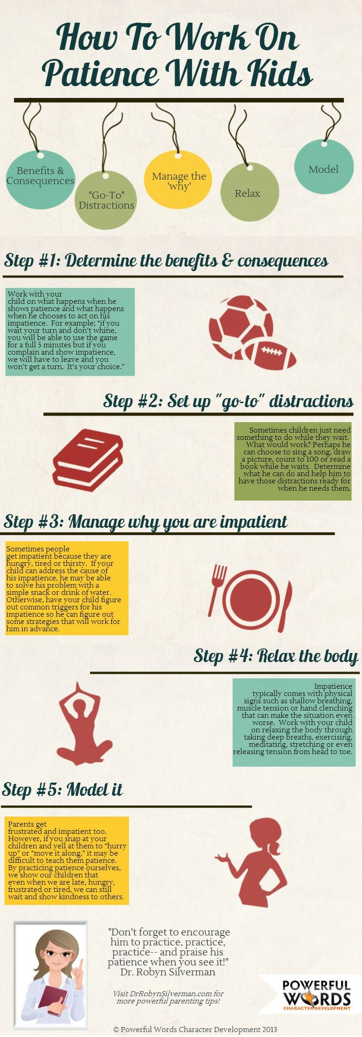 #Parenting tip from Dr Robyn Silverman - How to work on #patience with your kids. Visit www.drrobynsilver... for more tips