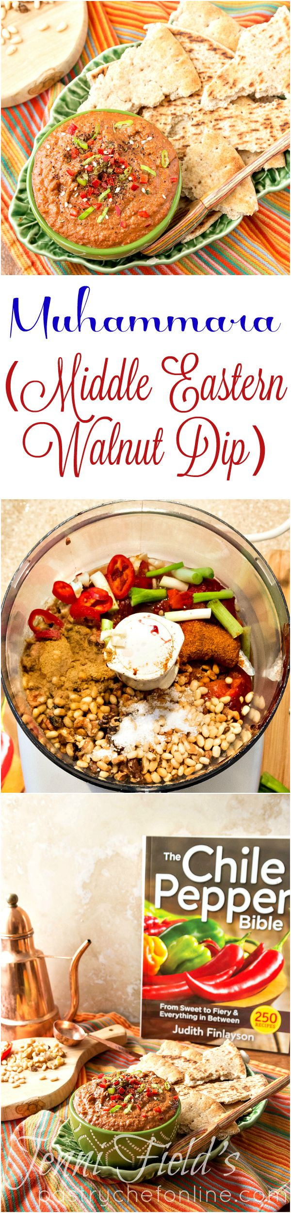 Muhammara, or Middle Eastern Walnut Dip, is easy to make and incredibly flavorful. With roasted red pepper, garlic, pomegranate molasses, toasted walnuts and more, muhammara is nutritious and perfect for dipping pita or vegetables or even used as a tangy