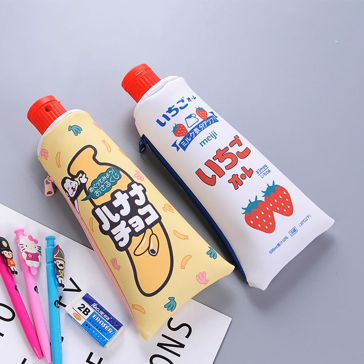Aliexpress.com : Buy 1pcs Creative Toothpaste Shape School Pencil Case Cute Animals Fruits Pen Bag Kawaii Korean Stationery Office School Supplies from Reliable pen bag suppliers on Mohamm Store