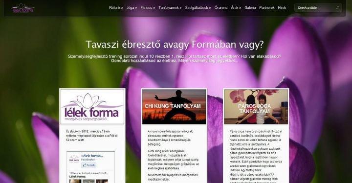 Amikor a megrendelő mer egyedi honlapot kérni, és minden sikerül, akkor nagyon jól működő és látványos dolgok születnek!    http://lelekforma.hu/