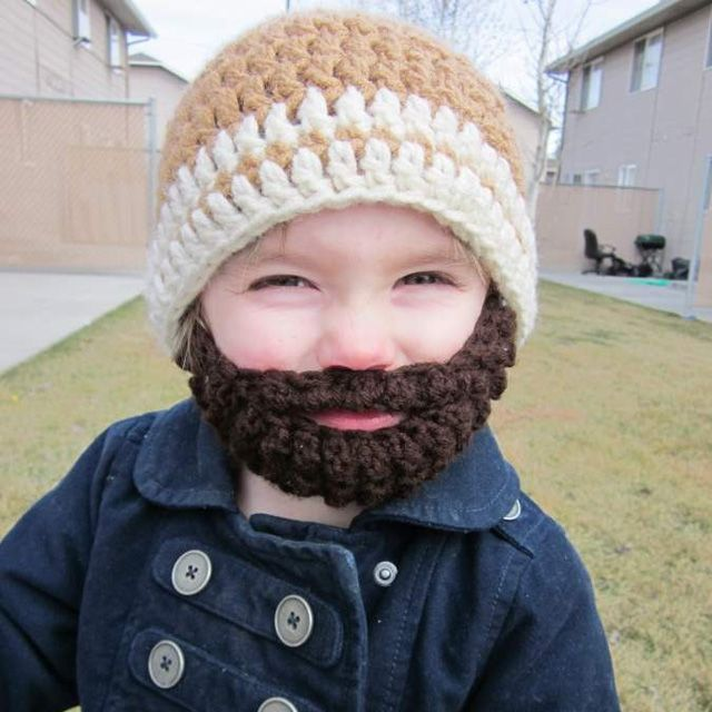 This is so cute and I bet it's warm too!: Beards, Hats, Idea, Crochet, Kids, Baby, Boy