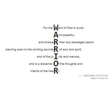 samurai acrostic poem