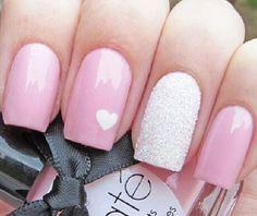 rosa claro com coração