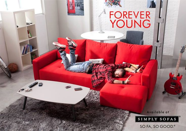 Relax, lounge, listen to music, or do what the moment calls you to do on the Fama MyLoft sofa. It is furniture for the young and the young at heart. Visit: http://simplysofas.in/ #Fama #Furniture #Sofa #Red #SimplySofas #sofasogood