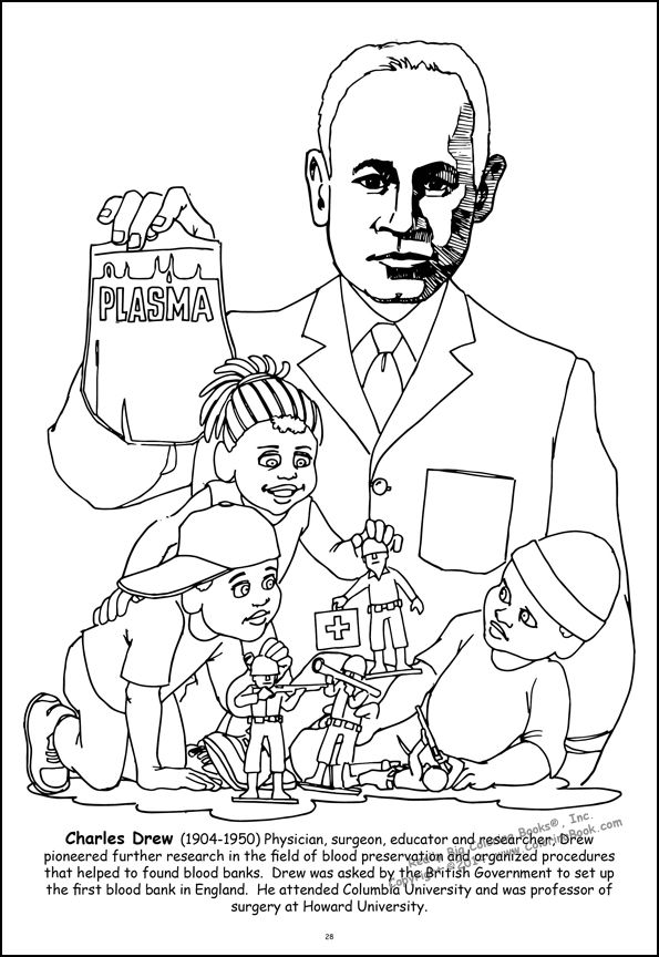 black american inventors coloring pages - photo#24
