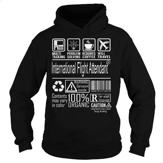 International Flight Attendant Job Title - Multitasking #clothing #T-Shirts. ORDER HERE => https://www.sunfrog.com/Jobs/International-Flight-Attendant-Job-Title--Multitasking-Black-Hoodie.html?60505
