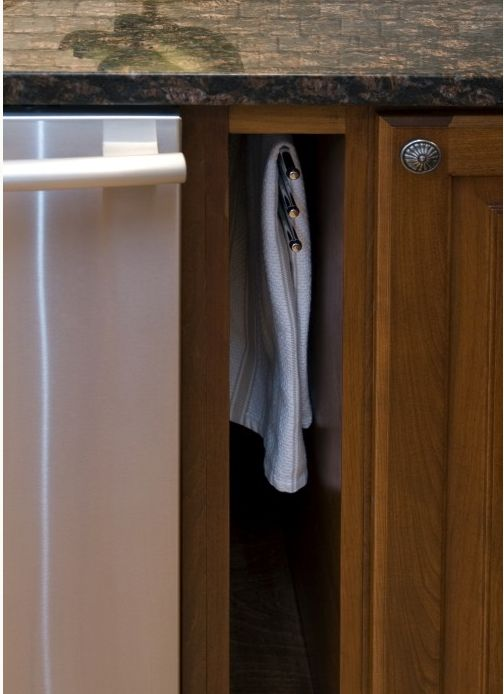 How Smart Is This Hidden Storage Place For Dish Towels? Itu0027s Right Next To  The Dishwasher And Sink For Convenience, And Has Several Racks Inside To  Hang ...