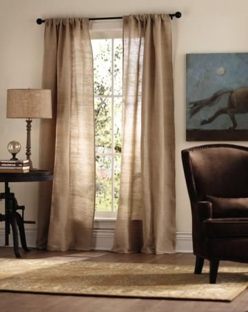 Luxe Linen curtain panel. Perfect for guest room. Spot clean only? Hmmmm....