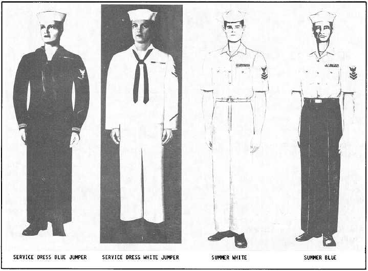 Chapter 2 uniform illustration from 1981 edition of United States Navy Uniform Regulations (Male). Description from religionmanuals.tpub.com. I searched for this on bing.com/images
