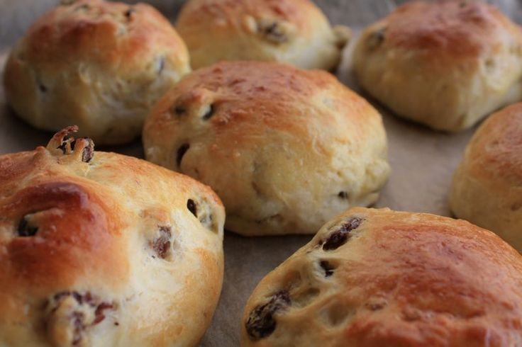 Cardamom Buns ~ I use currants and bread flour.