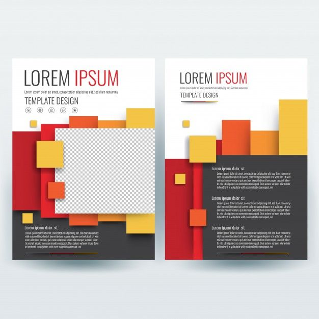 Business brochure template, flyers design template, company profile, magazine, poster, annual report, book & booklet cover, with Colorful geometric, in size a4. Free Vector
