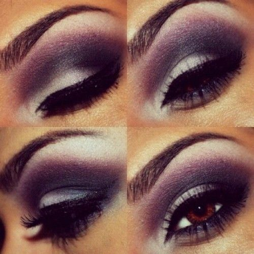 Purple smokey eye. Makeup application can be done for $45 here.