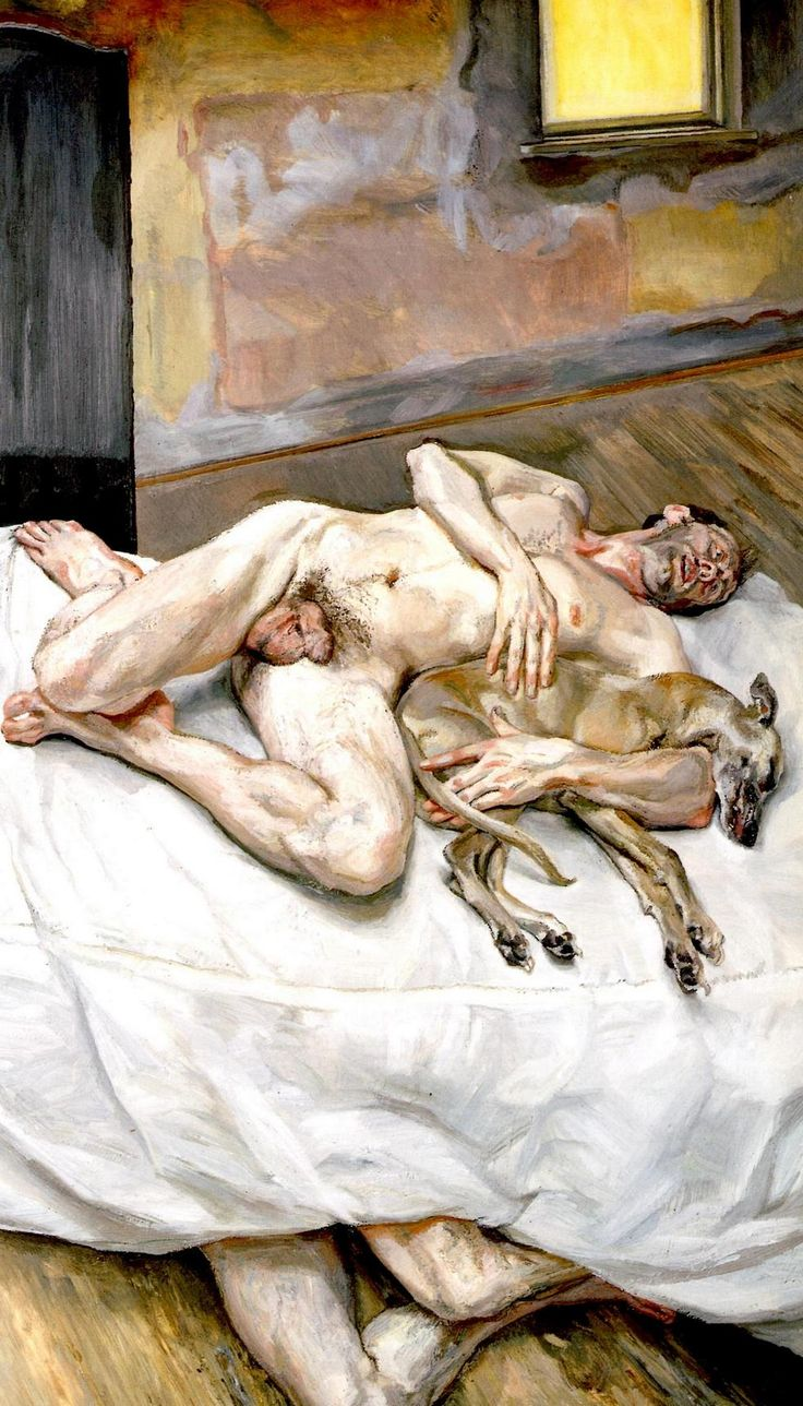Lucian Freud, Sunny Morning Eight Legs, 1997, oil on canvas, Art Institute of Chicago, Chicago, IL, USA.