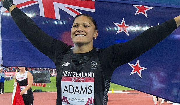 Our golden girl Valerie Adams winning the 600th games medal for New Zealand  #makingusproud #glasgow2014