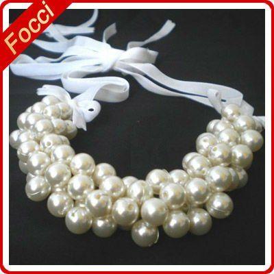 Como Hacer Collares De Perlas | hecho a mano las bodas de shell collar de perlas de diseños-Collares ...