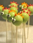 dino cake pops.  I plan on making these this weekend. :)