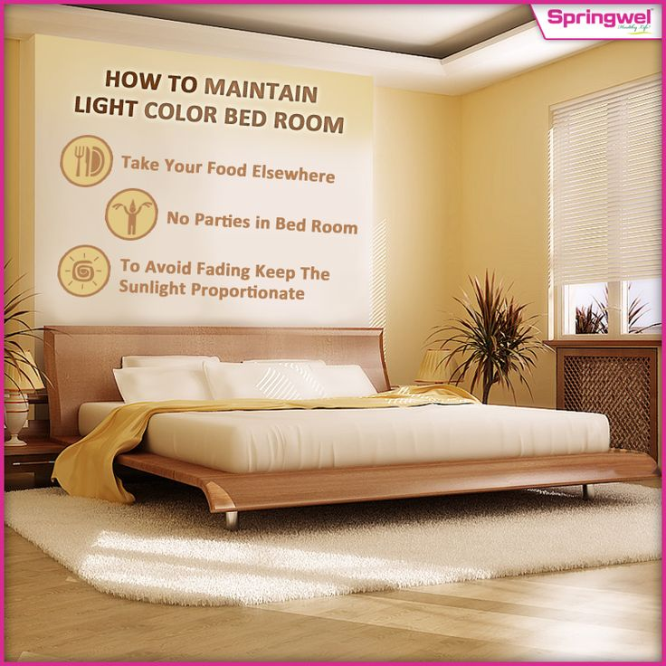 Scared for your light colored #bedroom ? Keep these tips in mind & you would be able to preserve all its glory! #HomeDecor #Springwel