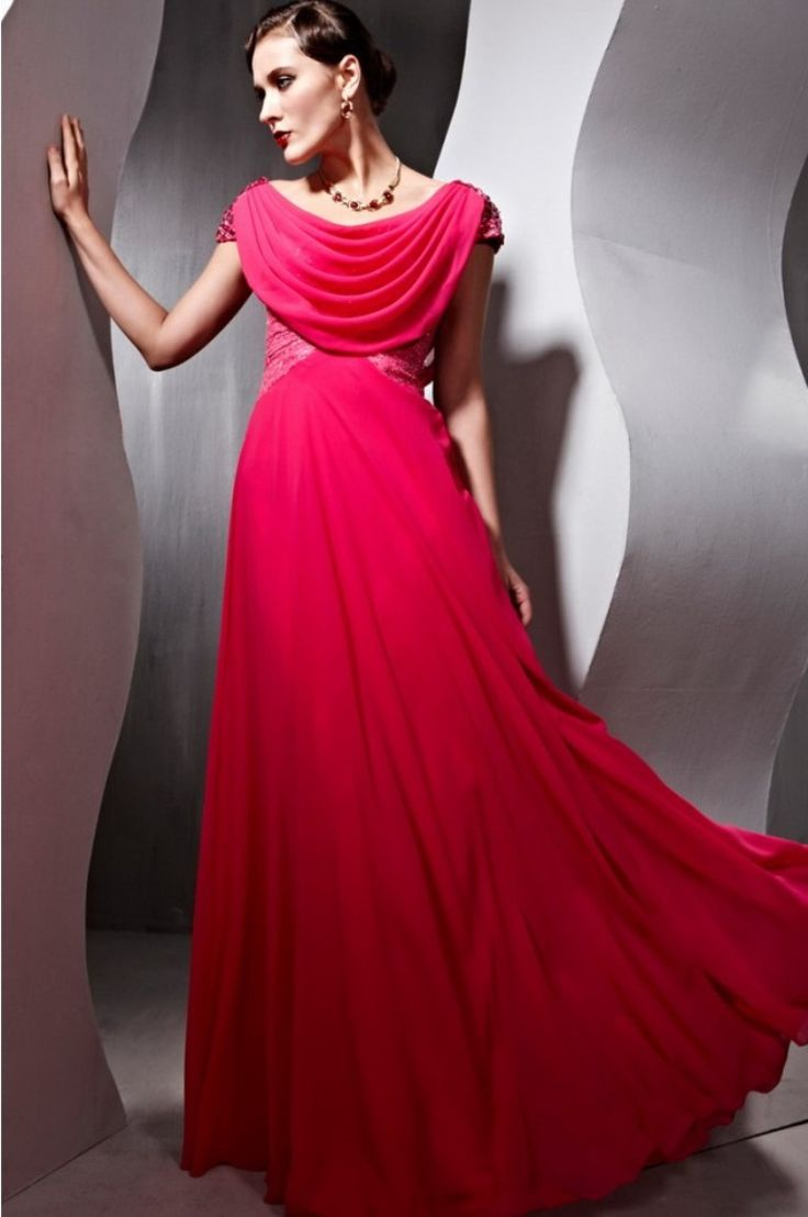 long-red-party-dress