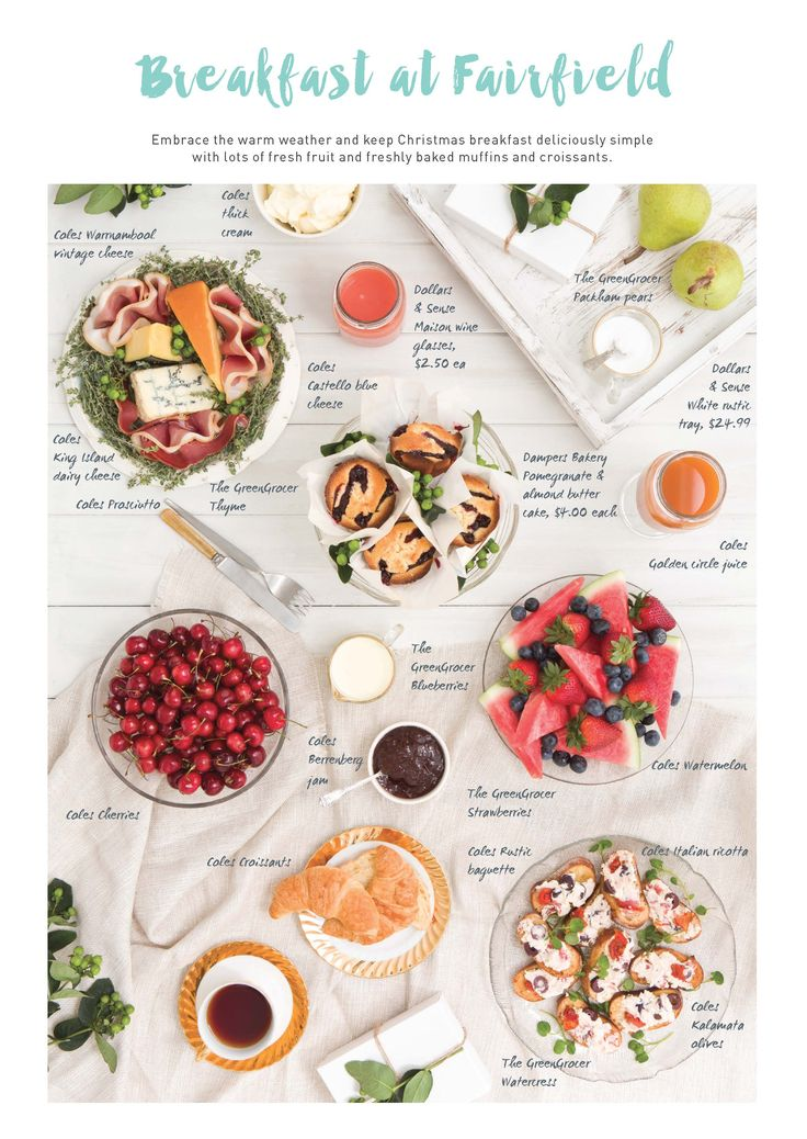 Styling: Bianca Pottinger www.biancapottinger.com Photography: Ross Pottinger www.winkphoto.com.au    Design: The Room www.theroom.com.au   Christmas Breakfast at Home. Christmas styling produced for Fairfield Gardens Shopping Centre.