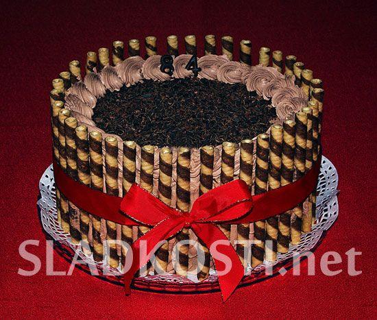 Čokoládový dort s mandarinkami