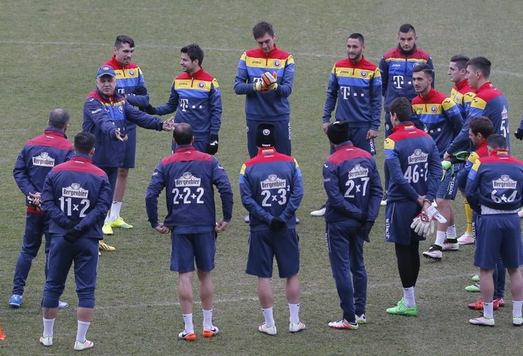 The Romanian soccer team put math problems on their jerseys instead of the usual player numbers. Cool!