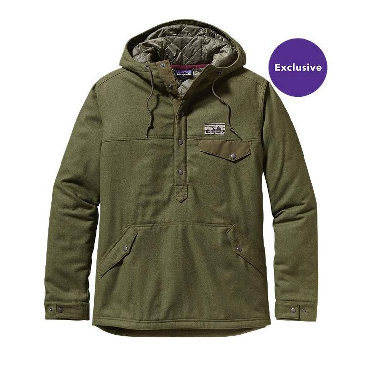 I want this before it gets too much colder!  Patagonia Men\u2019s Reclaimed Wool Snap-T Pullover - Fatigue Green FTGN