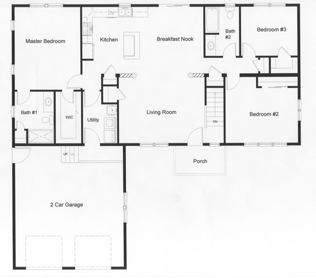 Floor Plans for Ranch Homes Open floor plan with the privacy of