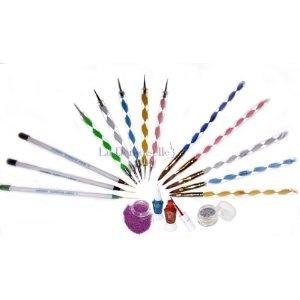 Premium MASH 100 Pc Nail Art Nailart 3d Manicure Design Sticks Rods Stickers Gel TipsAcrylics Brushes, Nails Art, Art Brushes, Polish Nails, Brushes Pens, Dots Pens, Art Nailart, Colors Glitter, Nail Art